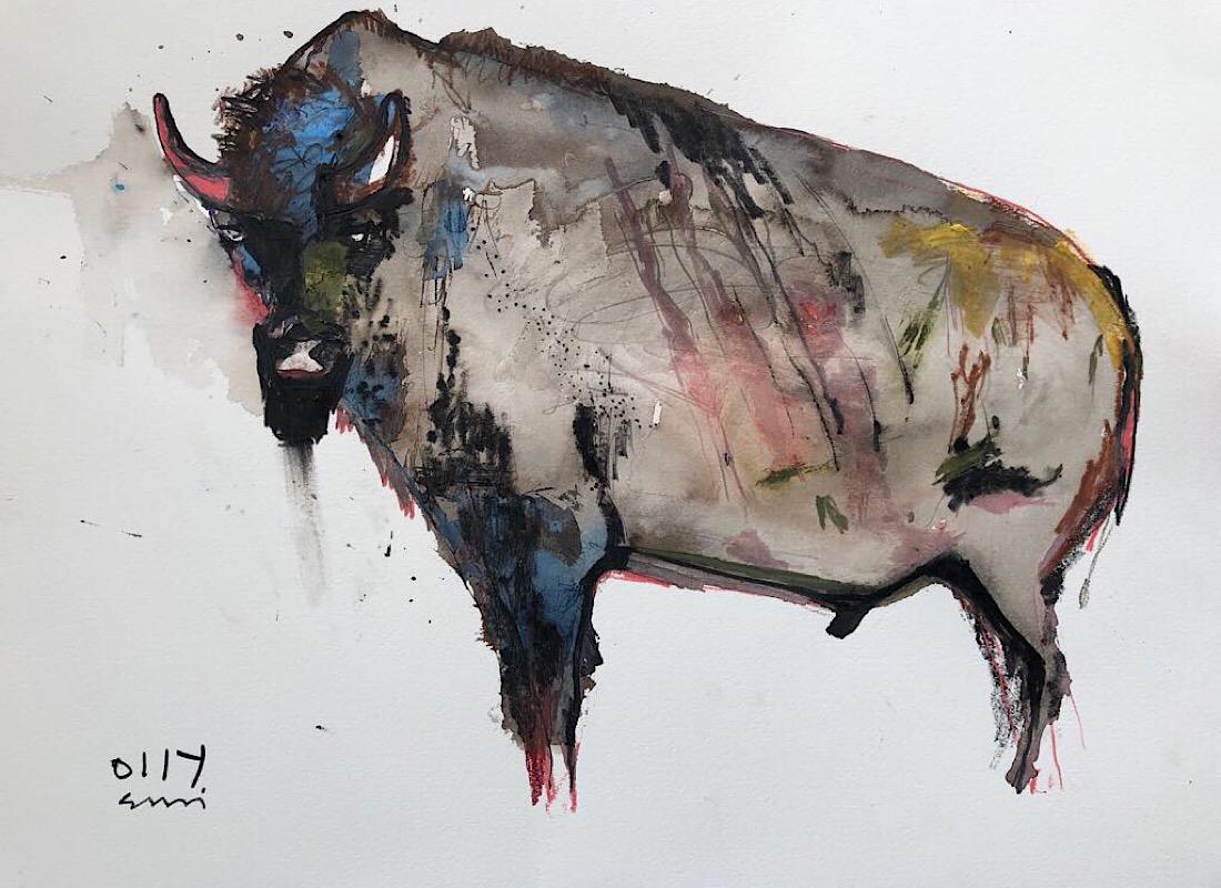 Pink bison