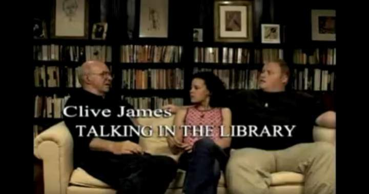 Clive James Talking in the Library