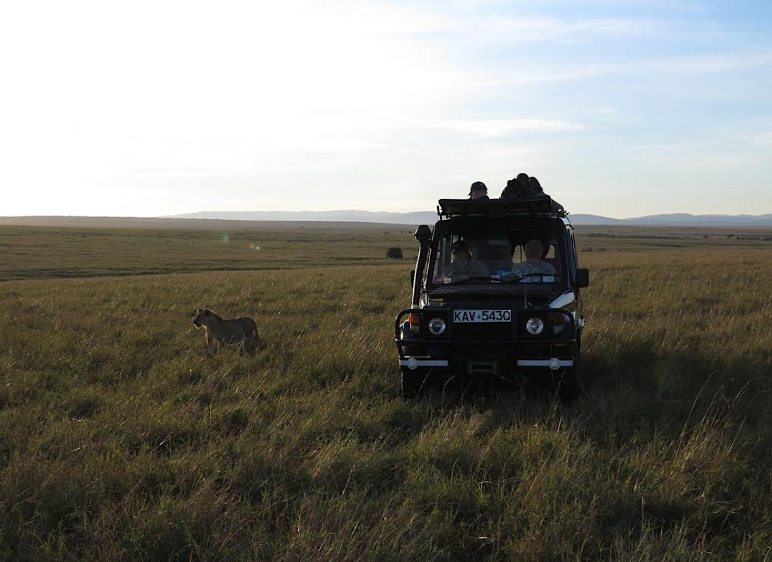 A proper safari car awaits