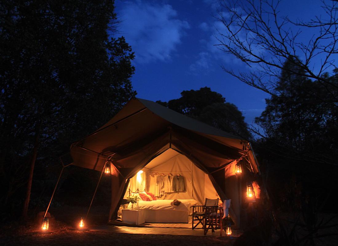 The mobile safari tent.